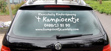 Sticker Auto venster - Raamsticker